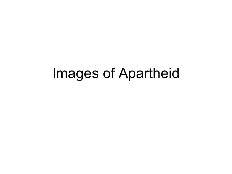Images of Apartheid