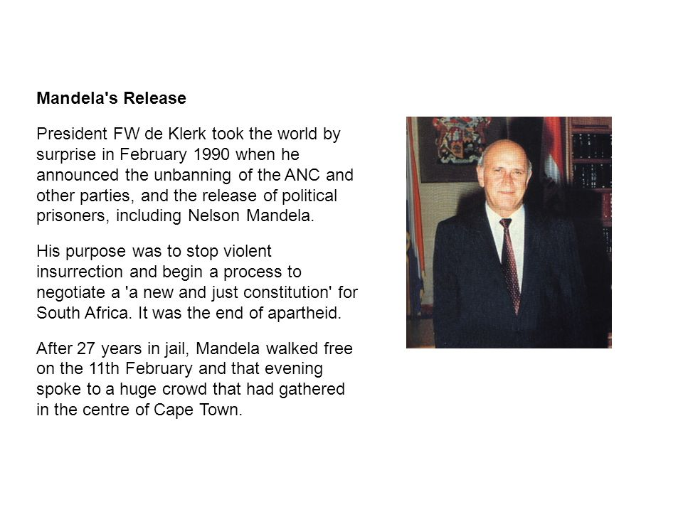 Mandela s Release