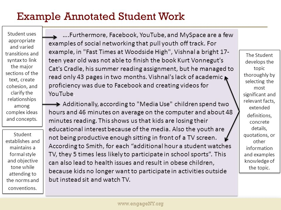 Example Annotated Student Work