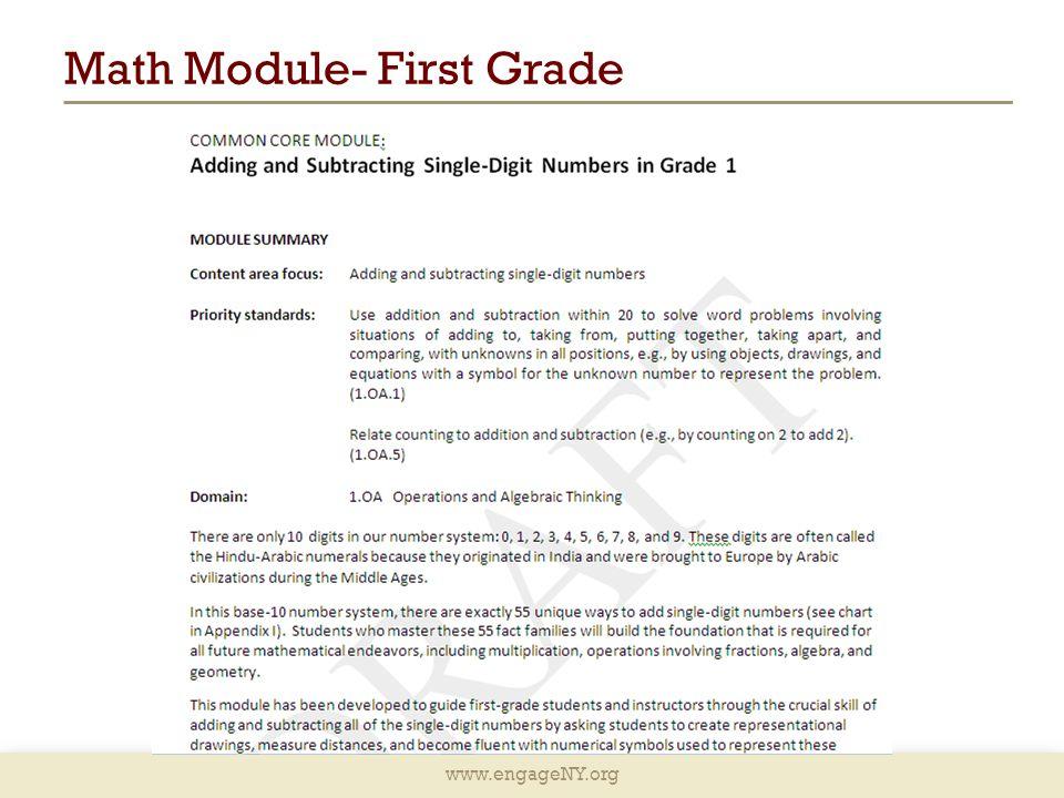 Math Module- First Grade