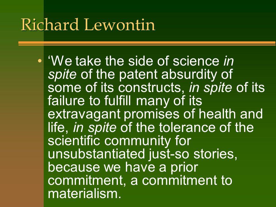 Richard Lewontin