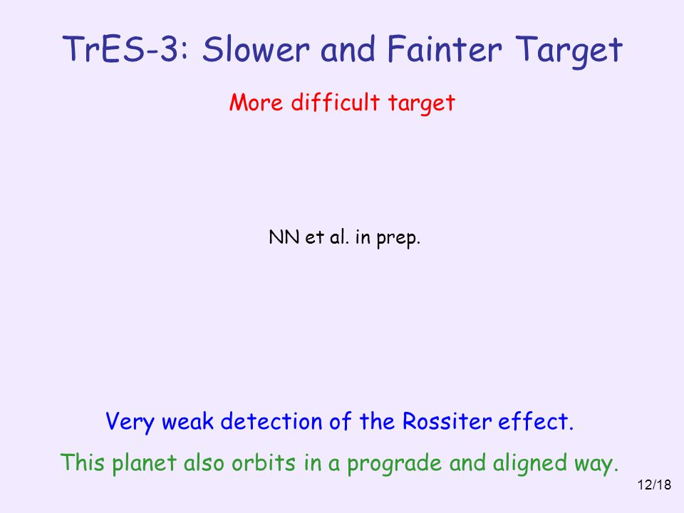 TrES-3: Slower and Fainter Target