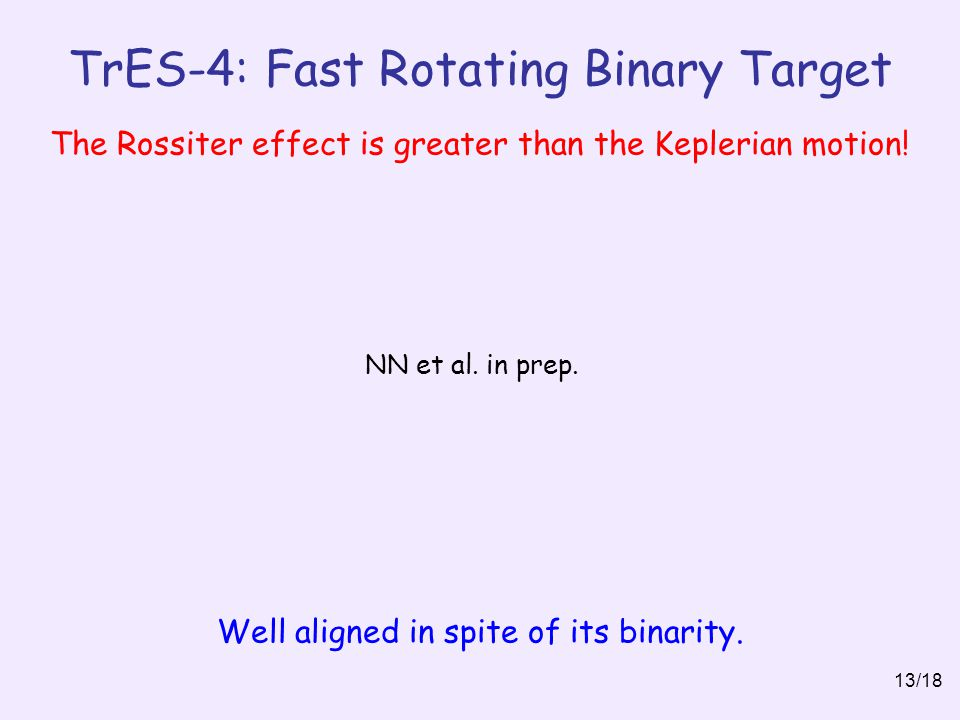 TrES-4: Fast Rotating Binary Target