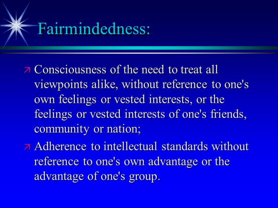 Fairmindedness: