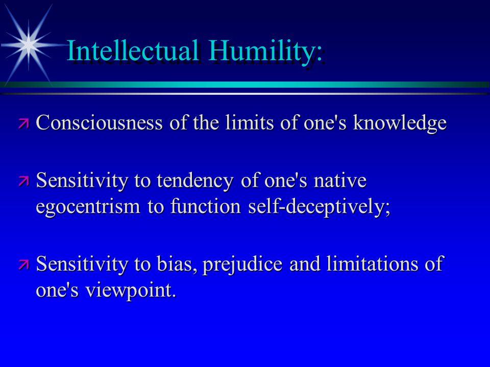 Intellectual Humility: