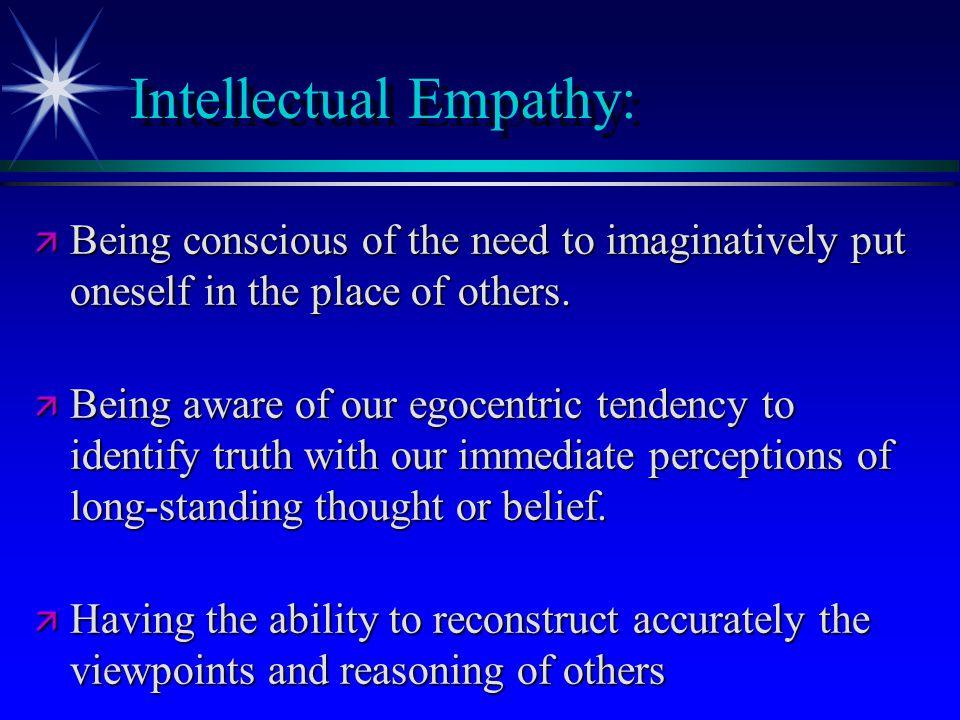 Intellectual Empathy: