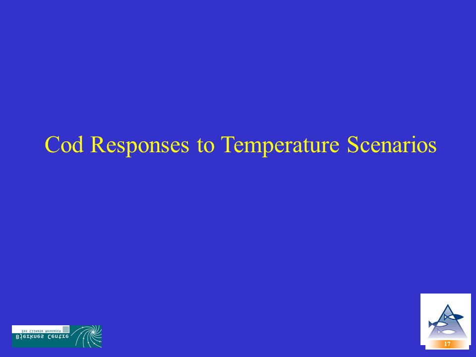 Cod Responses to Temperature Scenarios