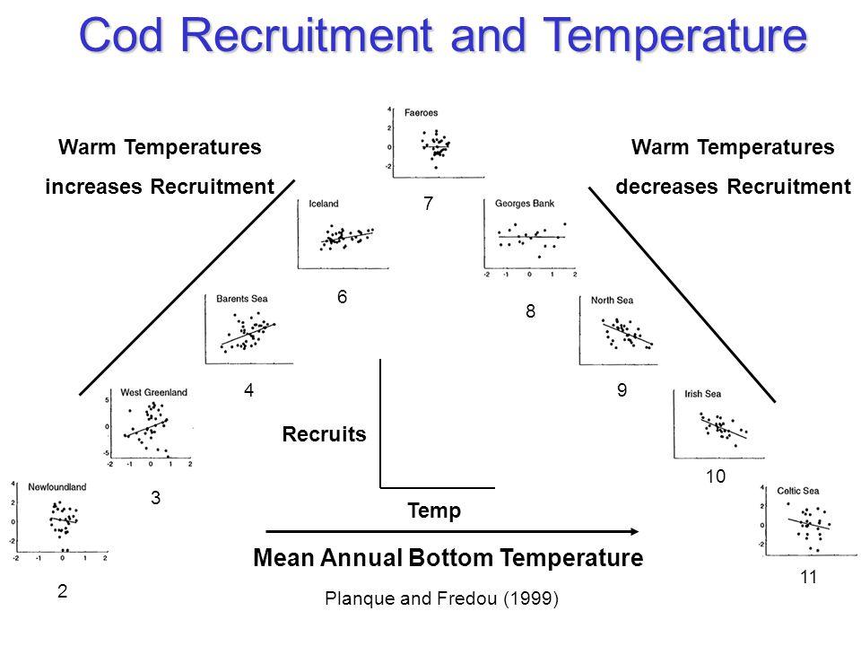 Cod Recruitment and Temperature