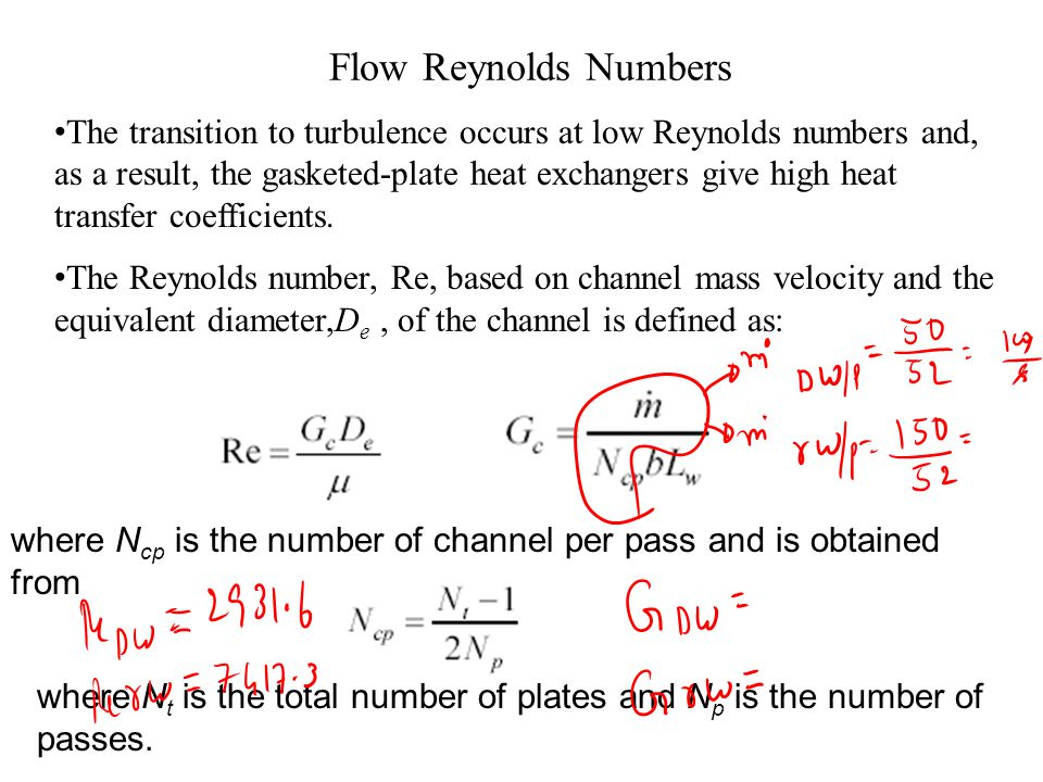 Flow Reynolds Numbers