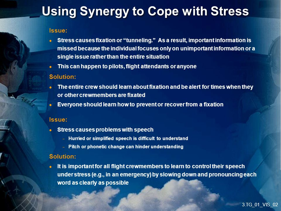 Using Synergy to Cope with Stress