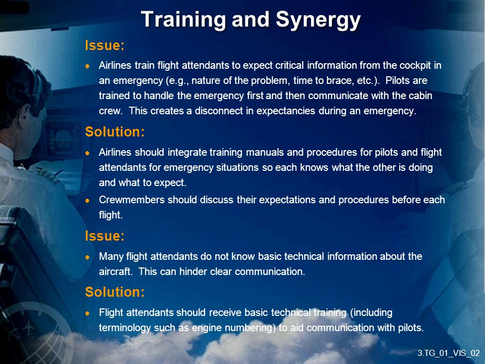 Training and Synergy Issue: Solution: