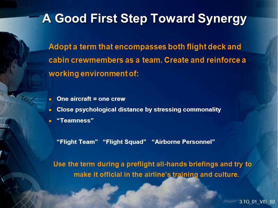 A Good First Step Toward Synergy