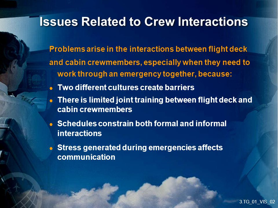 Issues Related to Crew Interactions