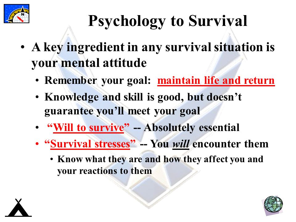 Psychology to Survival