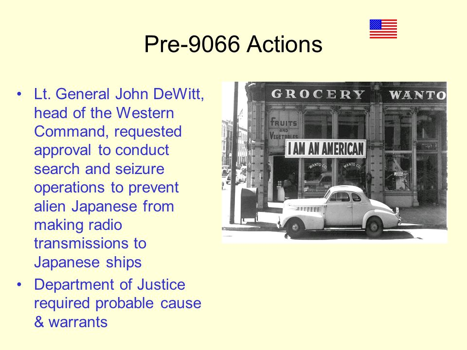 Pre-9066 Actions