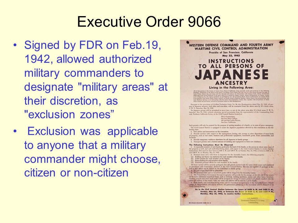 roosevelt signed an executive order to go to war Roosevelt signed another order the next month, creating an agency to usher   the time has come to realize that the rigors of war demand proper detention of   is displaying two pages of roosevelt's original executive order.