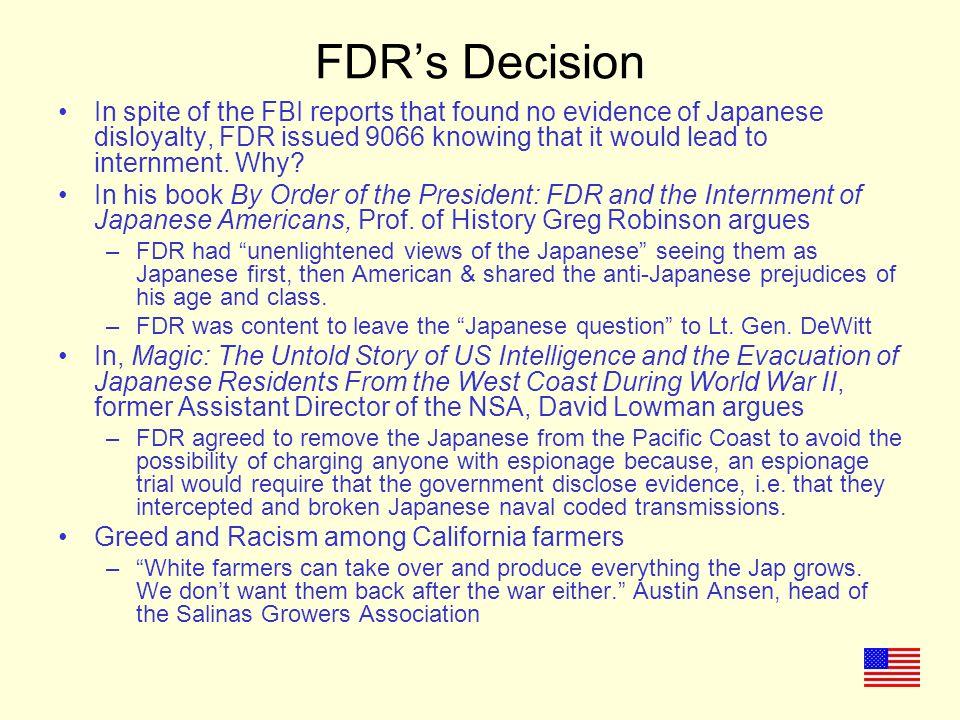 FDR's Decision