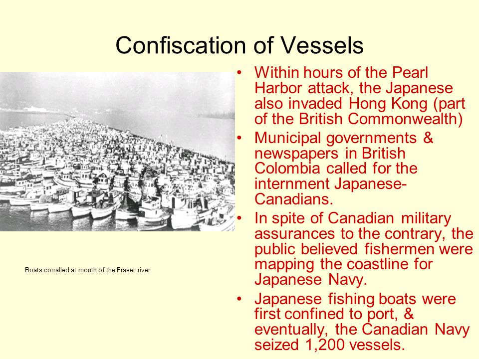 Confiscation of Vessels