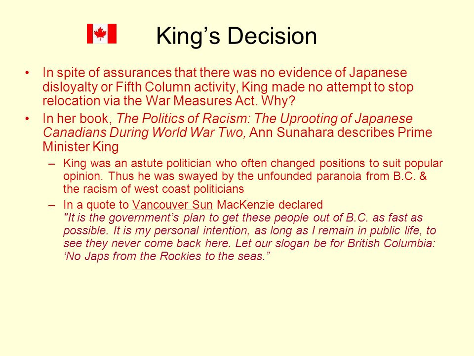 King's Decision