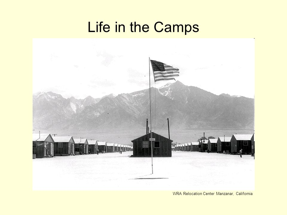 Life in the Camps WRA Relocation Center Manzanar, California