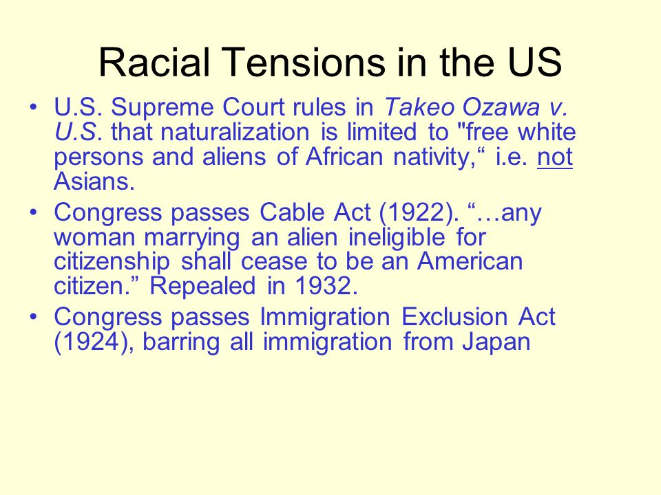 Racial Tensions in the US