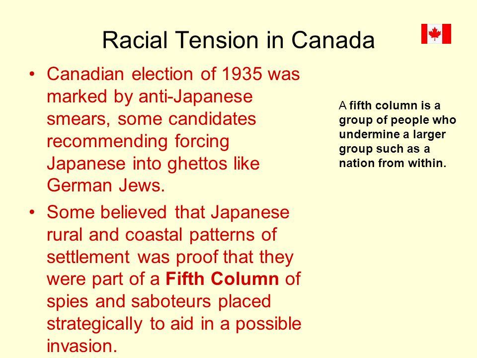 Racial Tension in Canada
