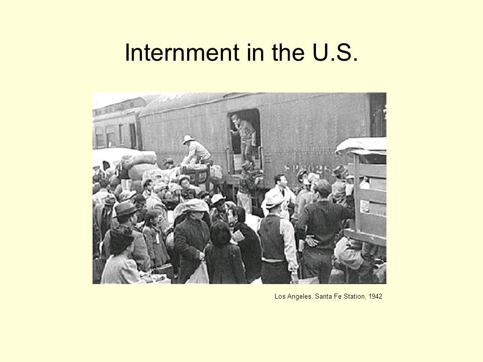 Internment in the U.S. Los Angeles, Santa Fe Station, 1942