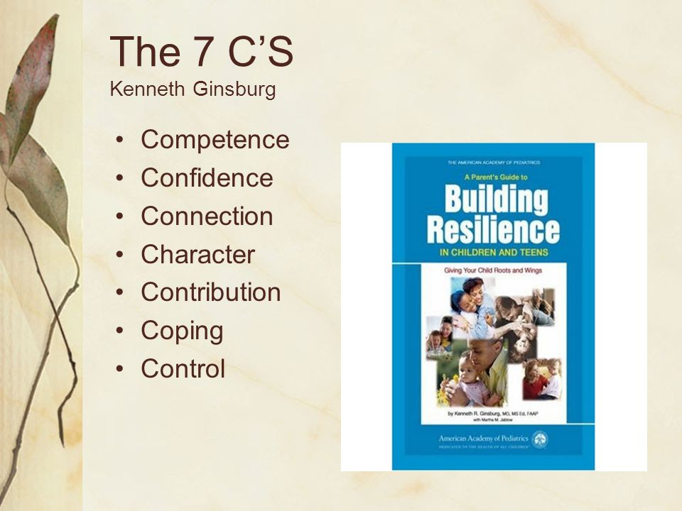 The 7 C'S Kenneth Ginsburg