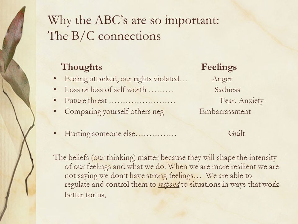 Why the ABC's are so important: The B/C connections