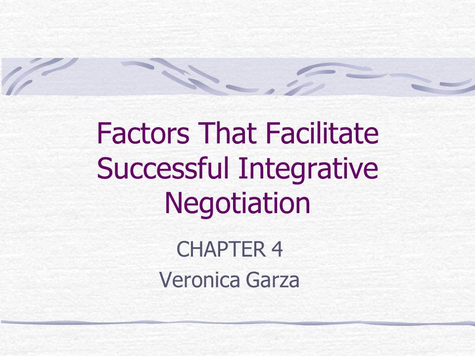 Factors That Facilitate Successful Integrative Negotiation