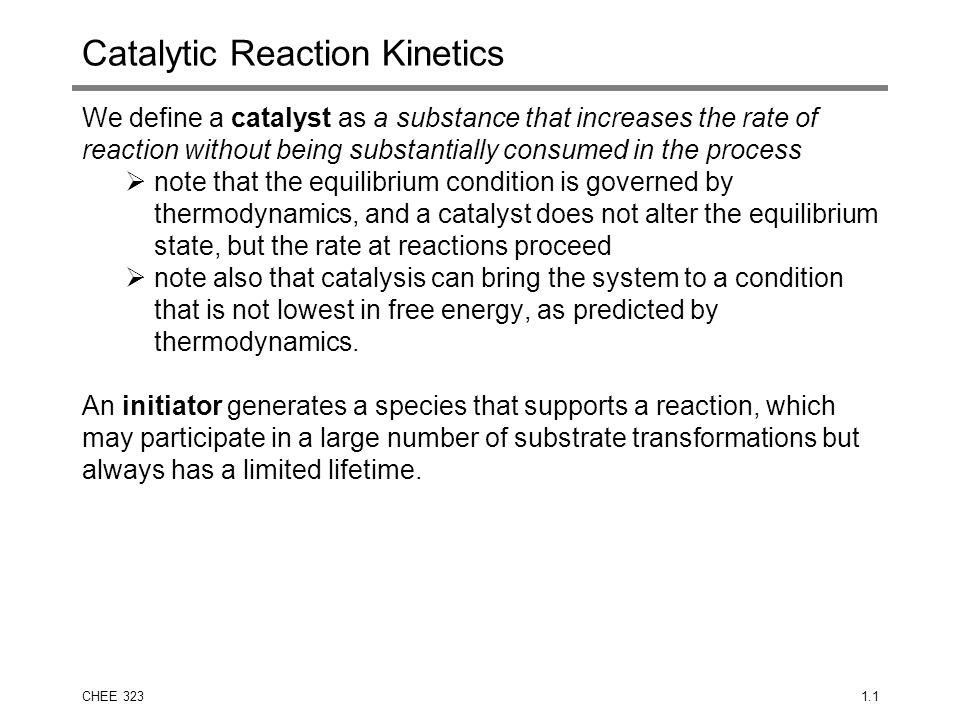 Catalytic Reaction Kinetics