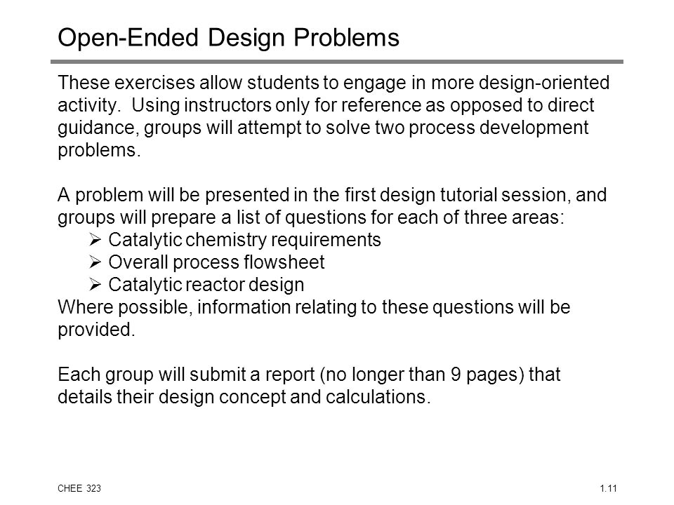 Open-Ended Design Problems
