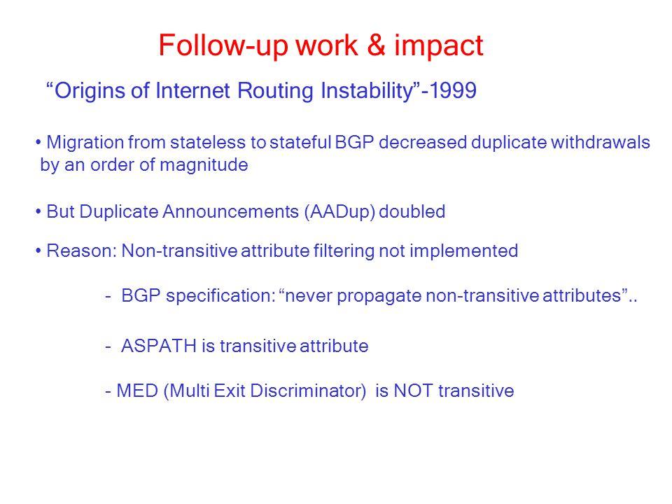 Follow-up work & impact