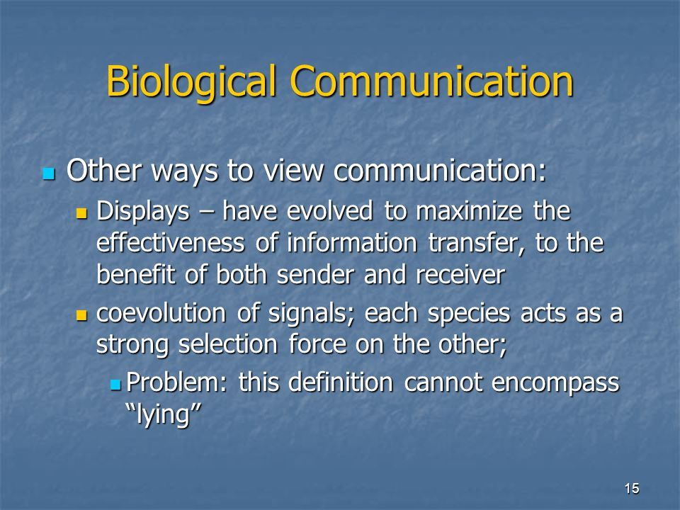 Biological Communication