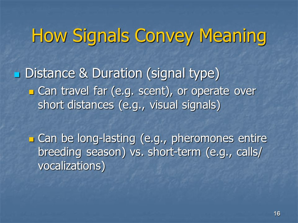 How Signals Convey Meaning
