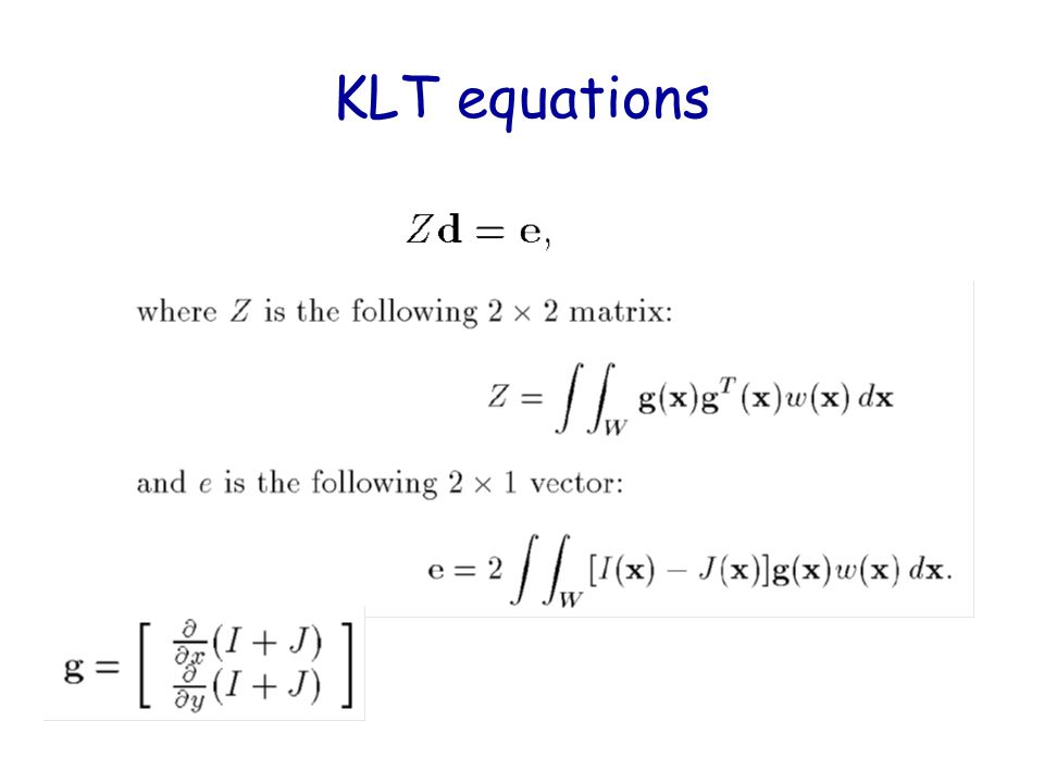 KLT equations