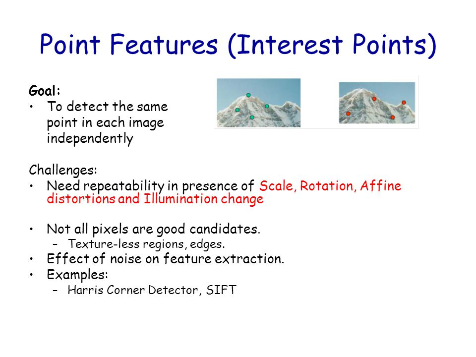 Point Features (Interest Points)