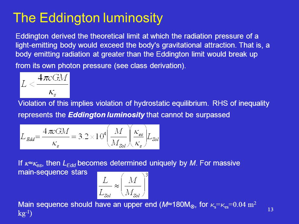 The Eddington luminosity