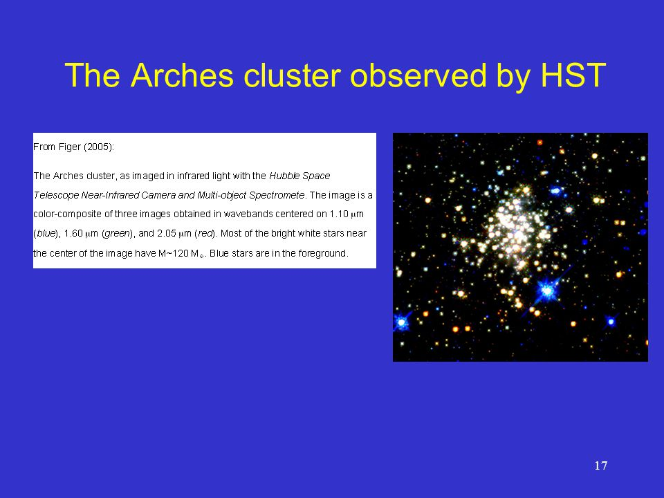 The Arches cluster observed by HST