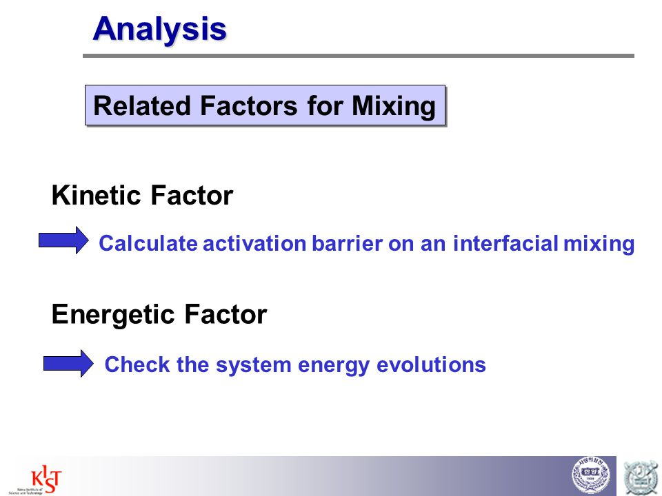 Related Factors for Mixing