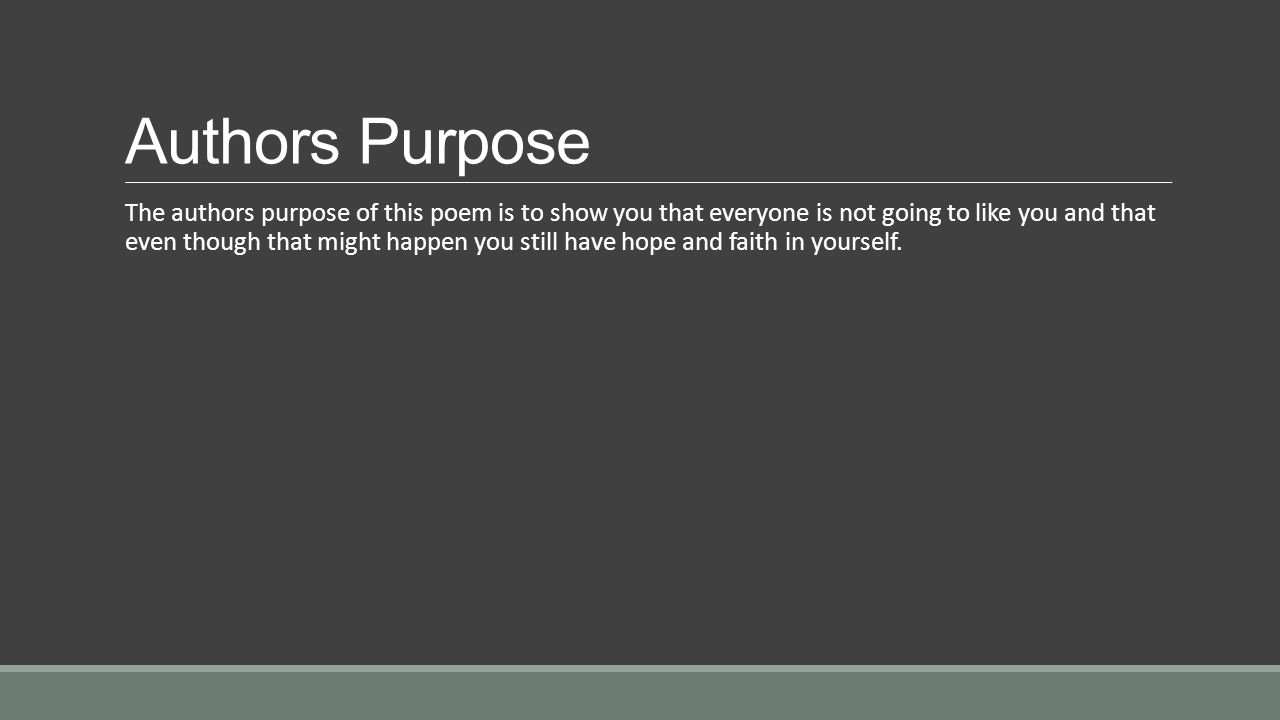 Authors Purpose
