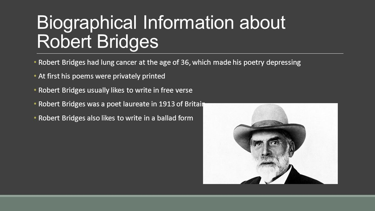 Biographical Information about Robert Bridges