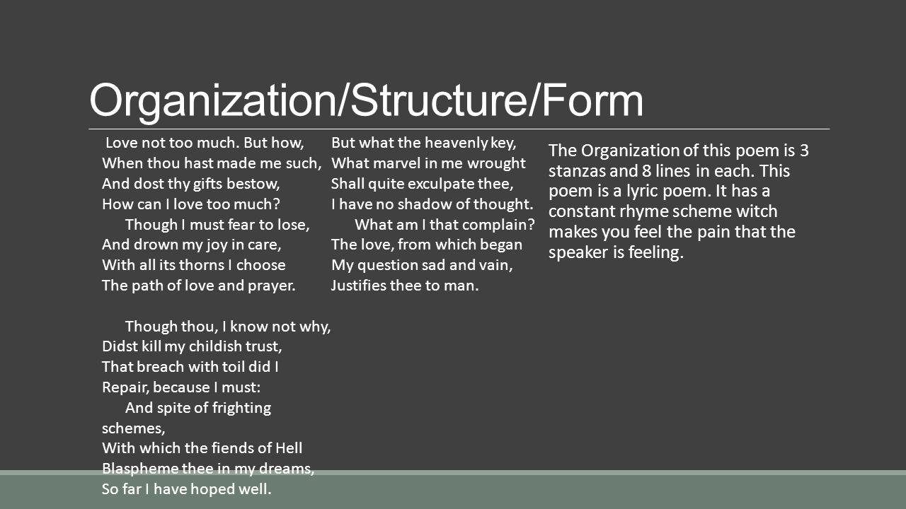 Organization/Structure/Form