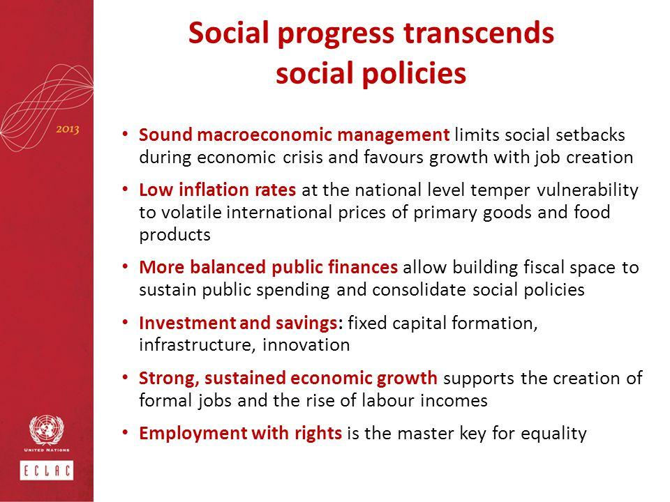 Social progress transcends