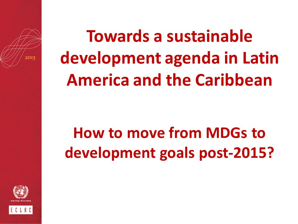 How to move from MDGs to development goals post-2015
