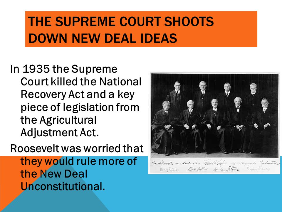 The Supreme Court shoots down New Deal ideas