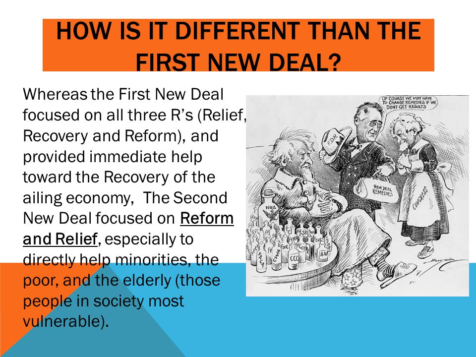 How is it different than the first new deal