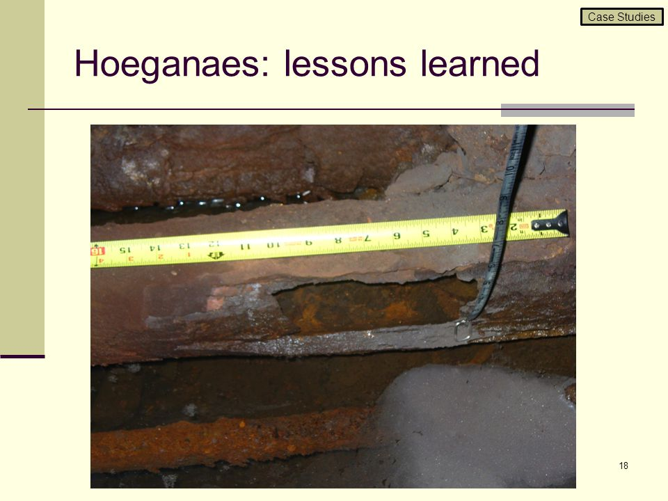 Hoeganaes: lessons learned