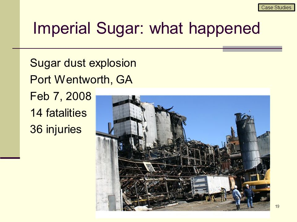 Imperial Sugar: what happened