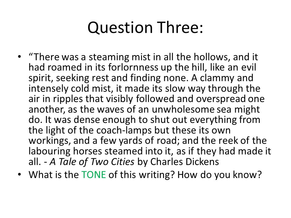 Question Three: